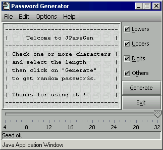 JPassGen screenshot v 1.03